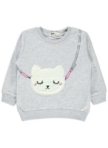 Civil Girls Kız Çocuk Sweatshirt Gri